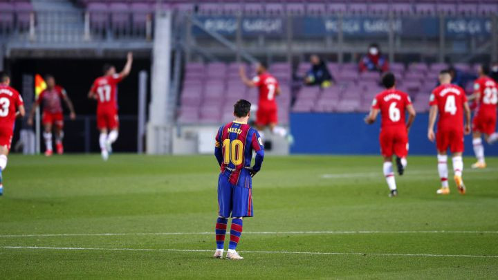 Lionel Messi for Barcelona in 1-2 defeat against Granada
