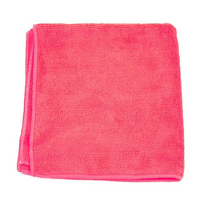 "Red Microfiber Towels - 16"" x 16"" - 15 DZ"