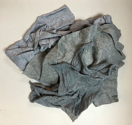 New Gray T-Shirt Rags - 50 Lb Box
