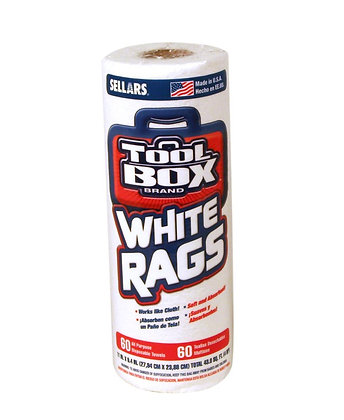 51056- Z400 Toolbox® White Rags 60Ct per Roll
