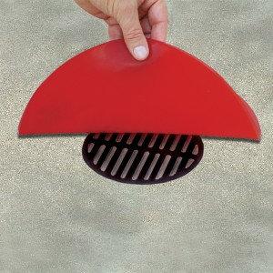 """ADC12-CIR - Drain Cover (Red) - 12"""" dia x 0.5""""D"""