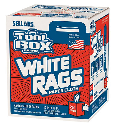 58202- Z400 Toolbox® White Rags Center-Pull Box