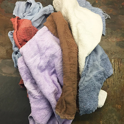 Bulk Packed Colored Terry Towels - 20 lb per Case