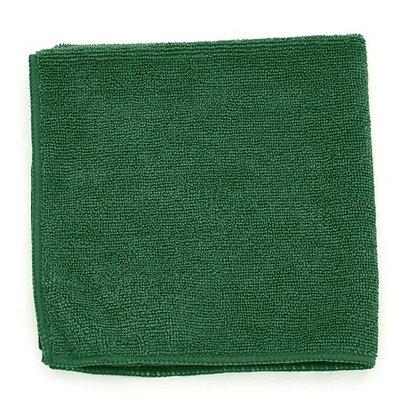 """Dark Green Microfiber Towels - 16"""" x 16"""" - 15 DZ"""