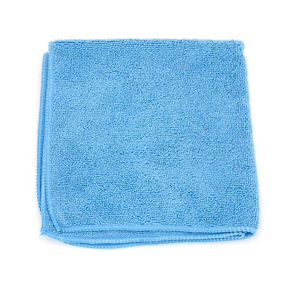 """Blue Microfiber Towels - 16"""" x 16"""" - 15 DZ"""
