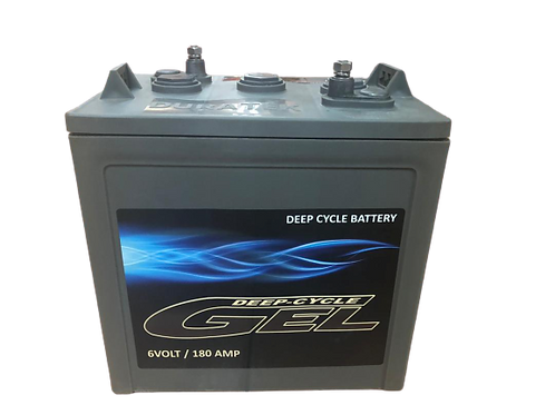 "Duratek Gel Battery 6V 180Amp""DURA6180NV""/7415"
