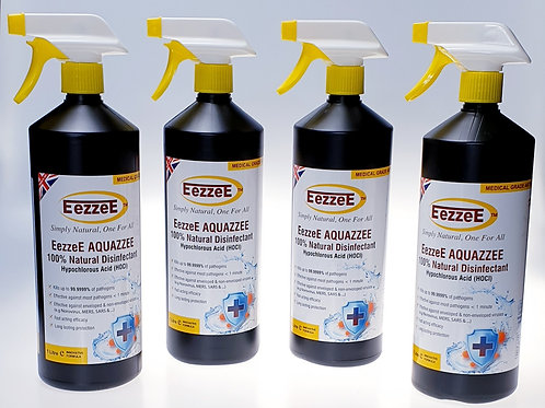 4 x EezzeE Aquazzee Multipurpose Trigger Spray 1 Litre