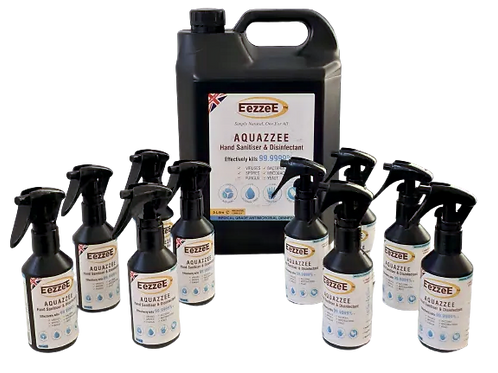 Aquazzee Hand Sanitiser Refill (5L + 10 x 100ml)