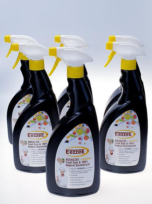 6 x Eezzee Aquazzee 750ml Trigger Spray (Food Safe)