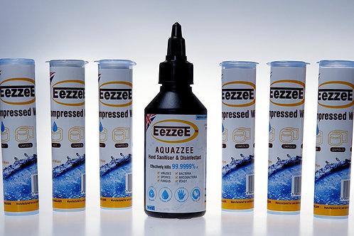 EezzeE Aquazzee HOCI Hand Sanitiser Plus Compressed Tissues Refill
