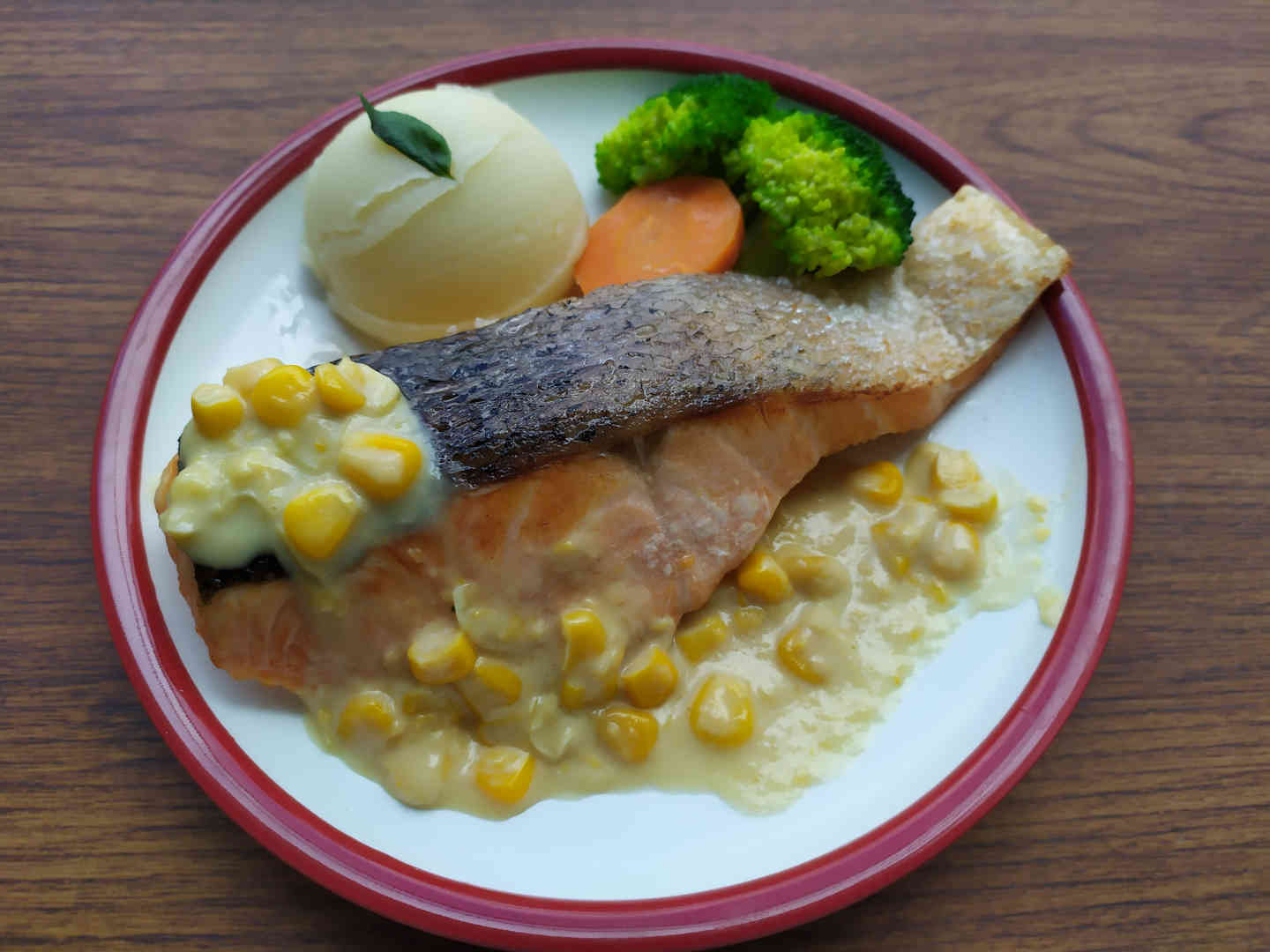Corn Cream Salmon