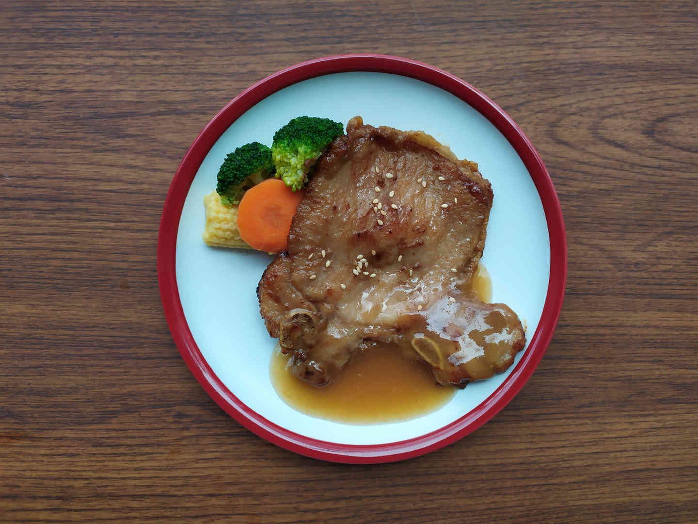 Pork Chop With White Wine Sauce