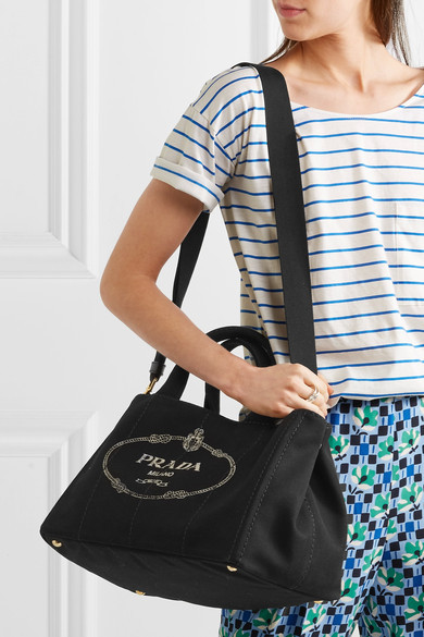 d79f0f84e02ae5 Prada's 'Giardiniera' tote is made from hard-wearing canvas printed with  the brand's logo - the label has been able to display the Savoy coat of  arms and ...