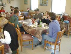 Mark Babcock, Ken Malone, Ann Beardshall, and Brandy Mixon  enjoyed their breakfast
