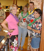 Some of Tony's admirers cornered him and made him promise to behave in Hawaii