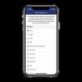 allergy-force-app-hidden-allergen-list-screen