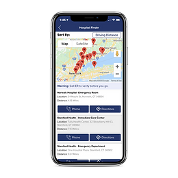 allergy-force-app-hospital-finder-screen