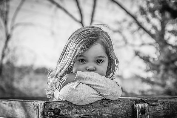 little-blond-girl-looking-over-fence