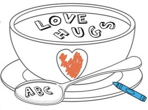 drawing-of-bowl-of-alphabet-soup-spelling-love-hugs