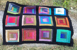 Log Cabin Square Knit-a-long☺ Stop by to