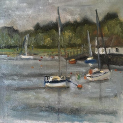 A Grey Day on the River Deben