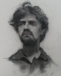 Charcoal portrait of an Indian Man from a sitting.