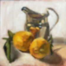 Lemons with a Silver Jug