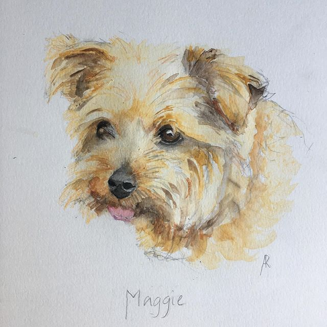 A portrait of a good friends dog for her