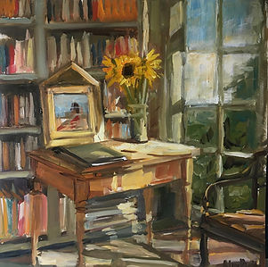 The Study, an interior of a study or library