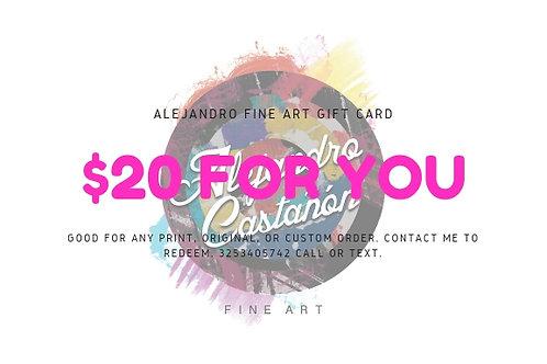 Alejandro Fine Art Gift Card