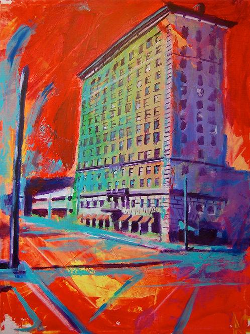 Cactus Hotel Canvas Print