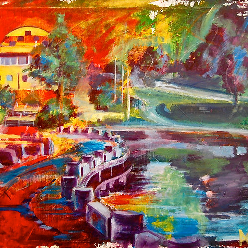 Celebration Bridge Canvas Print