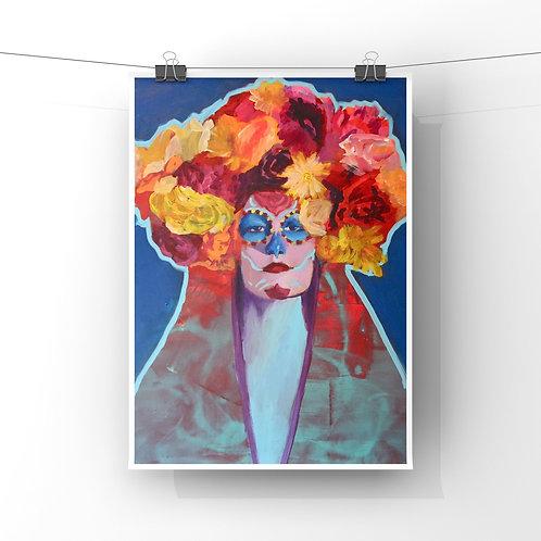 "La Reyna 12""x18"" Poster Print"