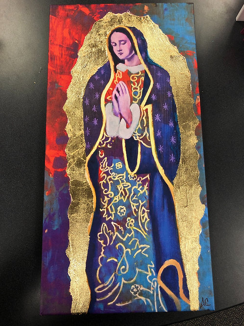 "Virgin De Guadalupe Canvas Print 10""x20"""