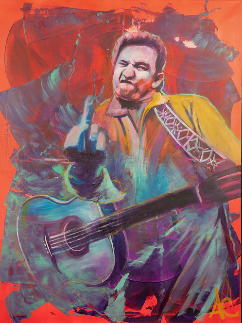 Johnny Cash San Quentin State Prison Gig Print