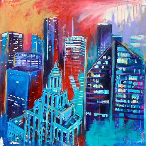 Downtown Houston Canvas Print