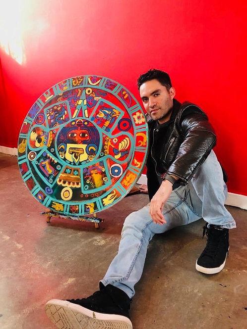 Aztec Calendar Painting
