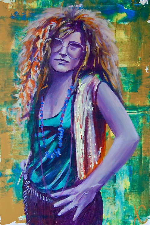 "Janis Joplin 12""x18"" Poster Print"