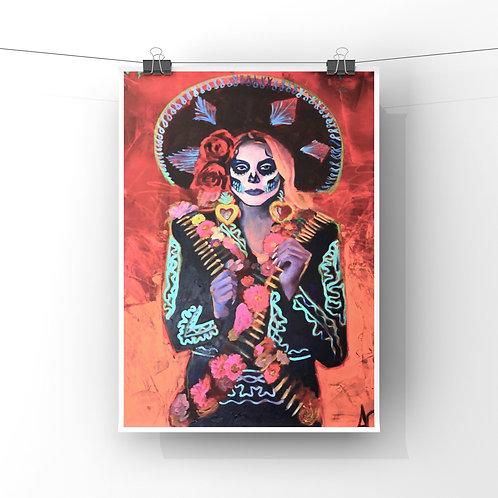 """La Jefa 12""""x18"""" Poster Print"""