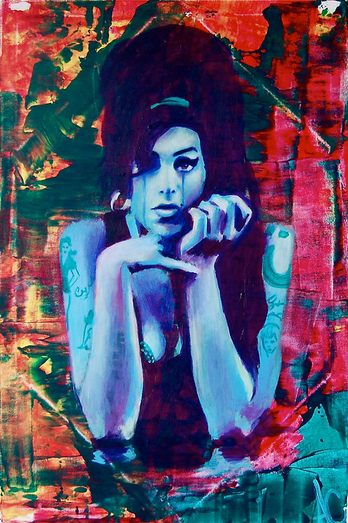 "Amy Winehouse 12""x18"" Poster Print"