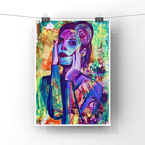 """Como Una Flor 12""""x18"""" Poster Print"""