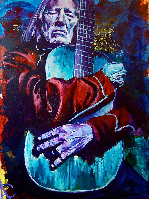 """Willie Nelson 12""""x18"""" Poster Print"""