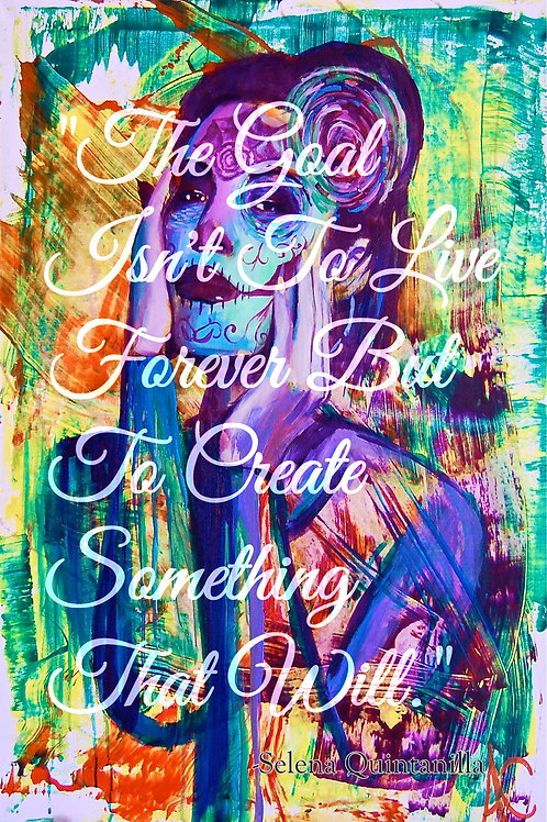 """Limited Edition Como Una Flor with Quote 12""""x18"""" Poster Print"""