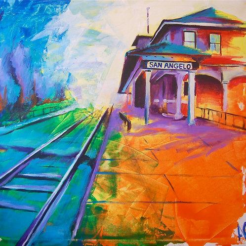 Santa Fe Depot Canvas Print