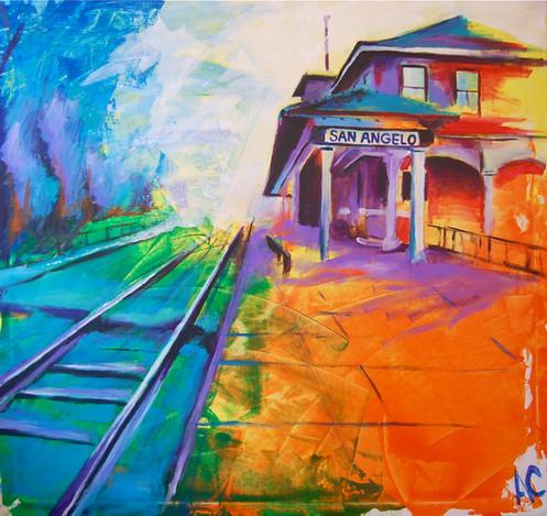 Canvas Santa Fe >> Santa Fe Depot Canvas Print