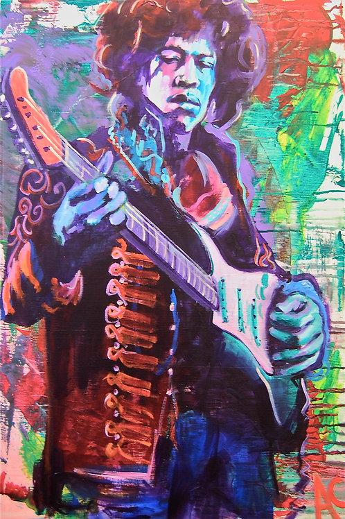 """Jimi Hendrix 12""""x18"""" Poster Print"""