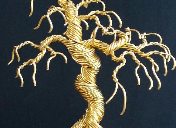 #93 Weeping Golden Wire Sculpture