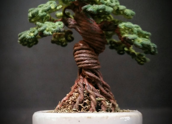 #146 Twisted Trunk Wire Tree Sculpture