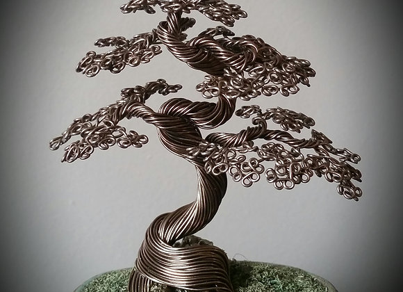 #121 Gnarly Twisted Wire Tree Sculpture