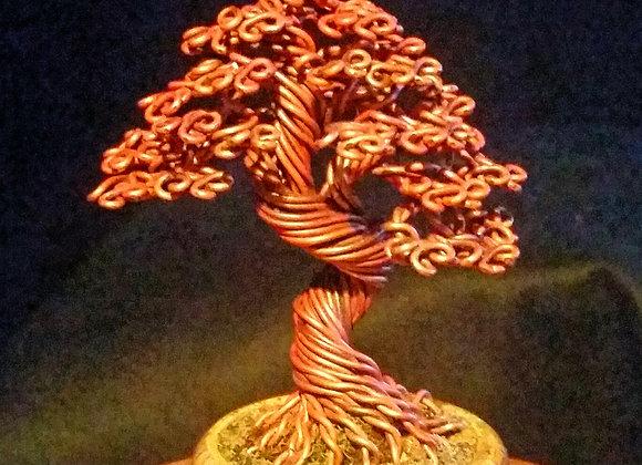 #156 Copper Wire Tree Sculpture